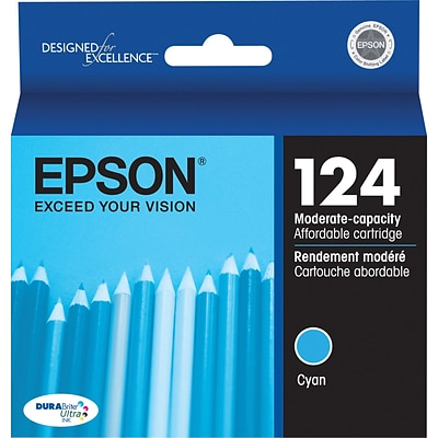 Epson 124 Cyan Ink Cartridge (T124220), Low Yield