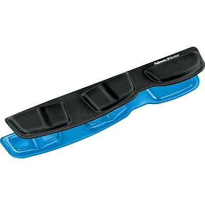 Fellowes® Keyboard Palm Support with Microban®, Gel, Blue