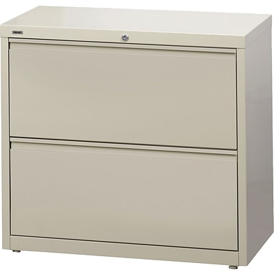HL8000 2-Drawer Commercial Lateral File Cabinet, Putty, 30 Wide (17723)
