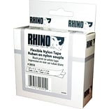DYMO Rhino Labeling Tape, Industrial Strength, Nylon, Easy to Peel, Thermal Printing, 1/2x11-1/2,