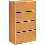 HON® 10700 Series 4 Drawer Lateral File Cabinet, Harvest, 36W (HON107699CC)