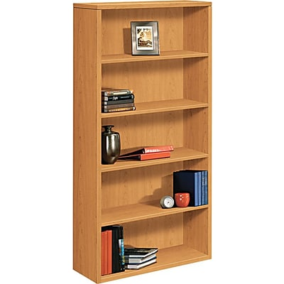 HON® 10500 Series Bookcase, Harvest, 5-Shelf, 71H