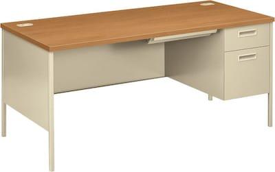"Hon(r) Metro Classic Series ""l"" Shaped Station, Single Right Pedestal Desk, Harvest/putty, 29 1/2""h X 66""w X 30""d"
