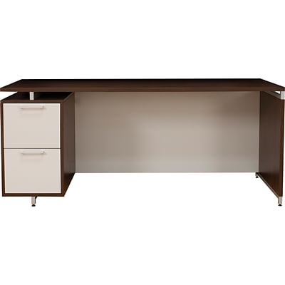 Regency® OneDesk® Collection in Java Finish, Single-Pedestal Credenza