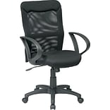Office Star Screen Back Managers Chair with mesh seat, Black