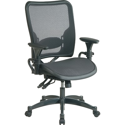 Office Star® SPACE® Air Grid Professional Ergonomic Chair With Black Seat