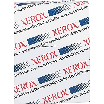 Xerox® Digital Color Elite Gloss Cover Stock, White, 8 1/2(W) x 11(L), 250/Pack