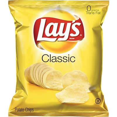Lays® Potato Chips, Classic, 1.5-oz., 64 Bags/Case