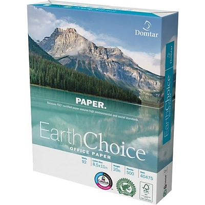 Domtar Earthchoice® Office Paper; 8 1/2 x 11, Ream
