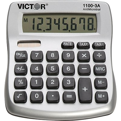 Victor 1100-3A 10-Digit Desktop Calculator, Silver