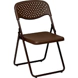 Office Star Ventilated Folding Chair, Mocha, 4/Pack