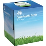 Sustainable Earth by Staples® Facial Tissues; Cube Box, 2-Ply, 6/Case