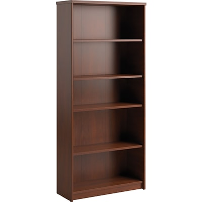 Bush Business Envoy 30W 5 Shelf Bookcase, Hansen Cherry