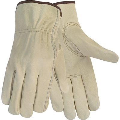 Memphis Gloves® Economy Leather Drivers Gloves, Medium, Beige