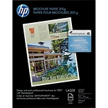 HP Brochure Paper, Glossy, 8 1/2 x 11, 100/Pack