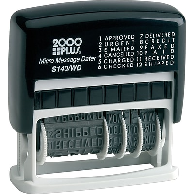 Cosco Self-Inking Professional Date Stamp,  1 1/8 x 2, Up to 4 Lines