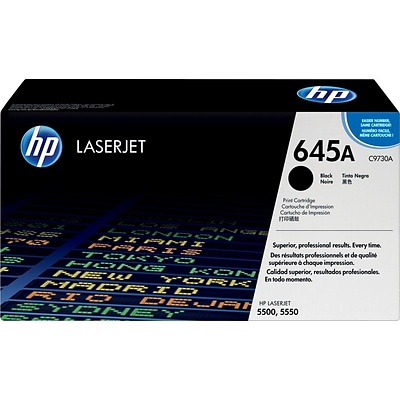 HP 645A Black Toner Cartridge (C9730A)