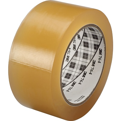 3M™ #764 Solid Vinyl Tape, Clear, 1x36yds., 36/Case