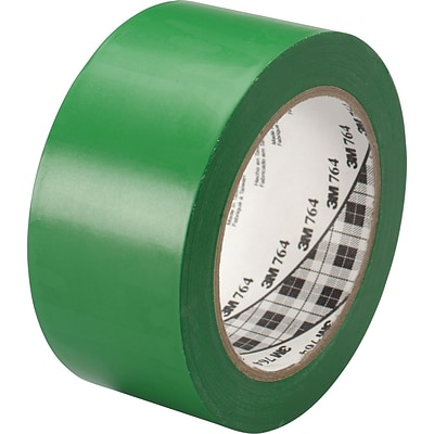 3M™ #764 Solid Vinyl Tape, Green, 2x36yds., 24/Case