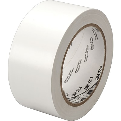 3M™ #764 Solid Vinyl Tape, White, 2x36yds., 24/Case