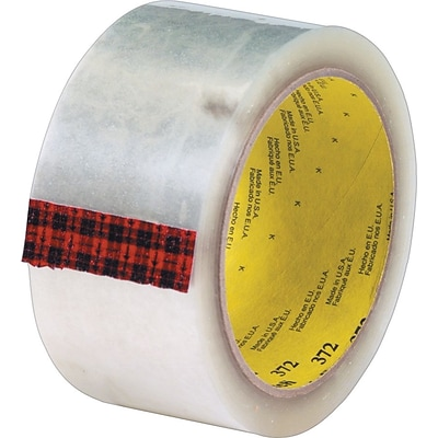 3M™ #372 Hot Melt Packaging Tape, 2 x 110 yds., Clear, 36/Case