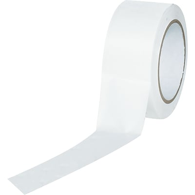 Industrial Vinyl Safety Tape, Solid White, 2 x 36yds., 24/Case