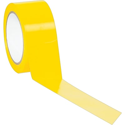 Industrial Vinyl Safety Tape, Solid Yellow, 2 x 36yds., 24/Case