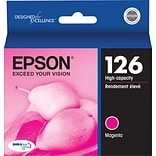 Epson 126 Magenta Ink Cartridge (T126320); High Yield