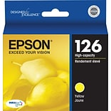 Epson 126 Yellow Ink Cartridge (T126420); High Yield