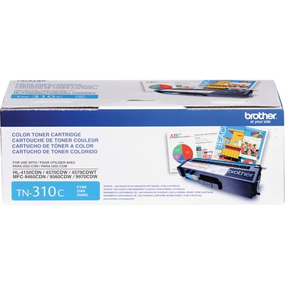 Brother Genuine TN310C Cyan Original Laser Toner Cartridge