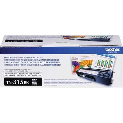 Brother Genuine TN315BK Black High Yield Original Laser Toner Cartridge