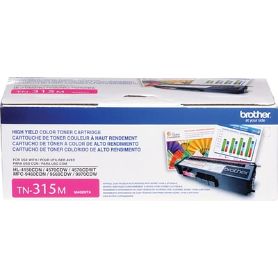 Brother Genuine TN315M Magenta High Yield Original Laser Toner Cartridge