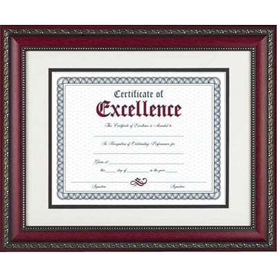 World Class Document Frame w/Certificate, Rosewood, 11x14