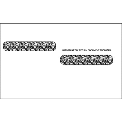 TOPS Gummed Double Window Envelope for LW24UPALT Tax Form, 24 lb., White, 5 5/8 x 9, 100/Pack (DW4ALT100)