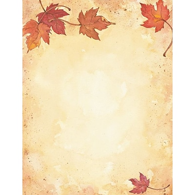 Great Papers® Holiday Stationery Fall Leaves , 80/Count