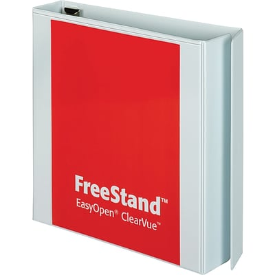 Cardinal FreeStand 3-Inch Slant D-Ring View Binder, White (43130)