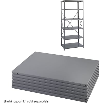 Safco® 85 High Industrial Shelving, 6 Shelves, 36Wx24D