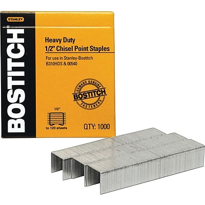 Stanley® Bostitch Heavy-Duty Staples, 1/2