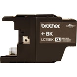 Brother LC 75 Black Ink Cartridge, High Yield (LC75BKS)