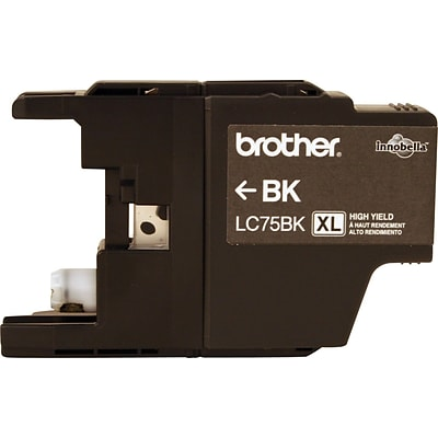 Brother Genuine LC75BK Black High Yield Original Ink Cartridge
