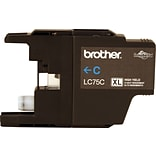 Brother LC 75 Cyan Ink Cartridge, High Yield (LC75CS)