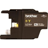 Brother LC 75 Yellow Ink Cartridge, High Yield (LC75YS)