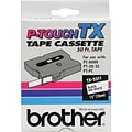Brother TX 1/2 Label Tape Black/White