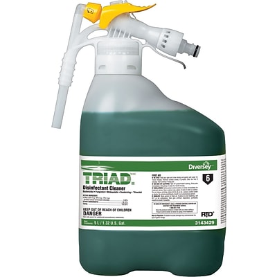 Diversey™ Triad™ III Disinfectant Cleaner, RTD®, Mint Scent, 5 Liters