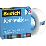 Scotch 1/2 Removable Tape