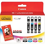 Canon® CLI-226 Ink Tank Cartridges Multi-pack (4 cart per pack)