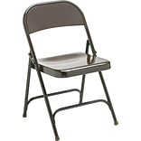Virco® Metal Folding Chair; Mocha; 4/pack
