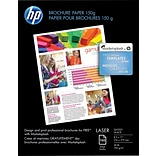 HP Color Laser Brochure Paper, 8 1/2 x 11 Glossy, 150