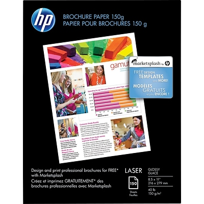 HP Color Laser Brochure Paper X Glossy Quillcom - Hp brochure templates