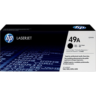 HP 49A Black Toner Cartridge, Standard (Q5949A)